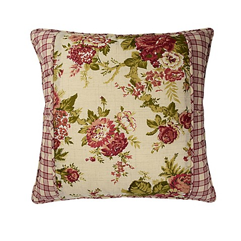 Waverly 174 Norfolk Reversible Cabbage Rose Gingham Throw