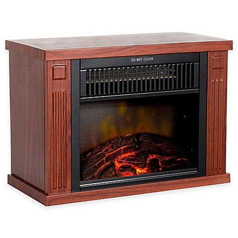 Northwest Mini Portable Electric Fireplace Heater In Wood