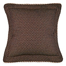 image of Austin Horn Classics Ashley Chenille European Pillow Sham in Black/Gold