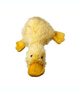 Pato con sonido Multipet para perro afelpado en amarillo