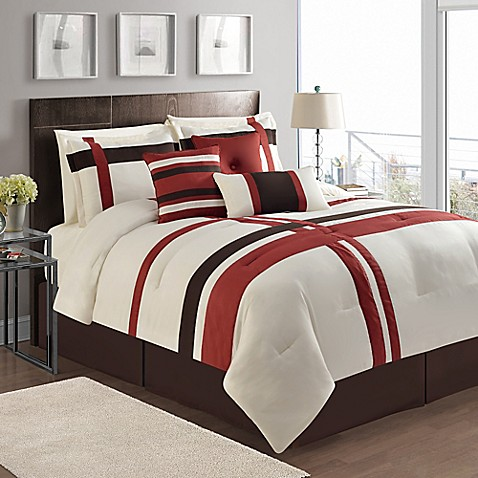 Vcny berkley 7 piece queen comforter set bed bath beyond 7 piece queen bedroom furniture sets