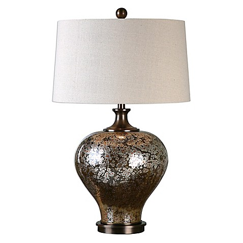 uttermost liro mercury glass table lamp in bronze with. Black Bedroom Furniture Sets. Home Design Ideas