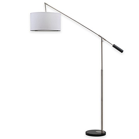 Safavieh Carina Balance Floor Lamp In Nickel With Cotton
