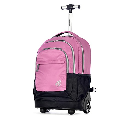 Buy Olympia® Gen-X 19-Inch Rolling Backpack in Pink from ...