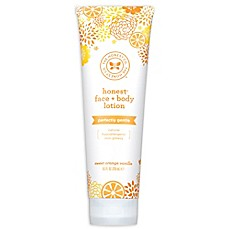 image of Honest 8.5 oz. Face + Body Lotion Deeply Nourishing in Sweet Orange Vanilla