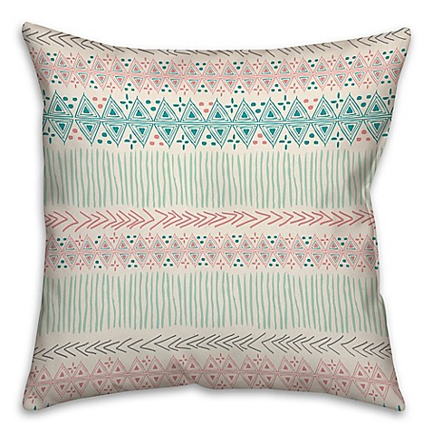 Bright Tribal Throw Pillow in Coral Red - Bed Bath & Beyond