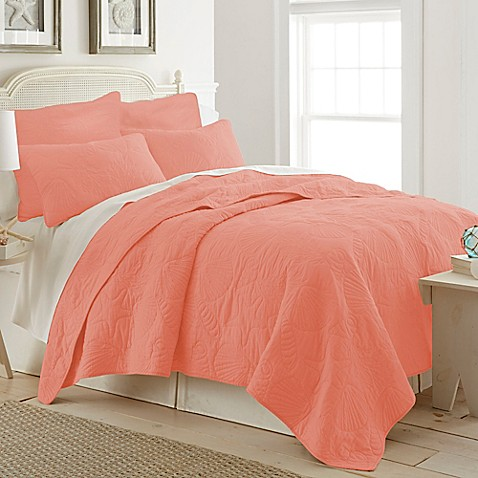 Buy Ocean View King Quilt In Coral From Bed Bath Amp Beyond