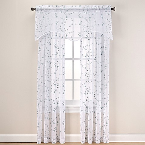 Caspia Sheer Window Curtain Panel and Valance  Bed Bath Beyond
