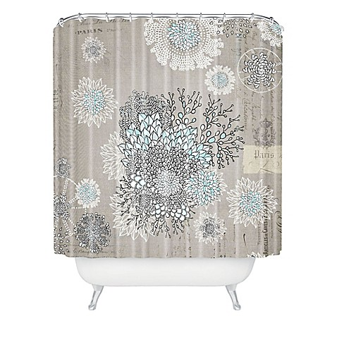Deny Designs Iveta Abolina French Blue Shower Curtain Bed Bath Beyond