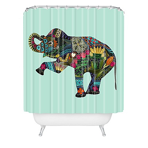 Deny designs sharon turner asian elephant shower curtain for Nature inspired shower curtains