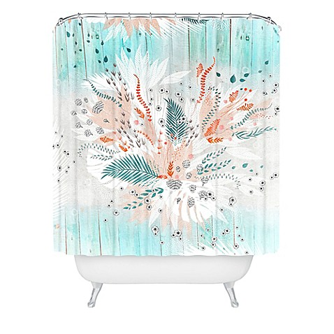 Deny Designs Iveta Abolina Tropical Teal Shower Curtain Bed Bath Beyond