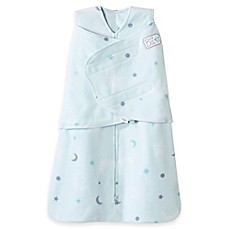 image of HALO® SleepSack® Stars Multi-Way Adjustable Fleece Swaddle in Mint