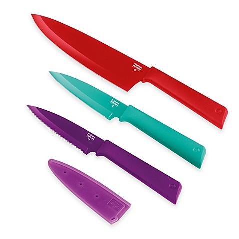 Kuhn Rikon Colori Plus Culinary 3 Piece Knife Set Bed