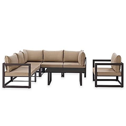 Https Www Bedbathandbeyond Com 1 1 455797 Modway Fortuna Outdoor 7 Piece Patio Sectional Furniture Set Mocha Html