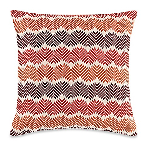Throw Pillow Rust : Electrostatic 20-Inch Square Throw Pillow in Rust - Bed Bath & Beyond