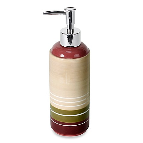 Buy Madison Stripe Lotion Dispenser From Bed Bath Amp Beyond
