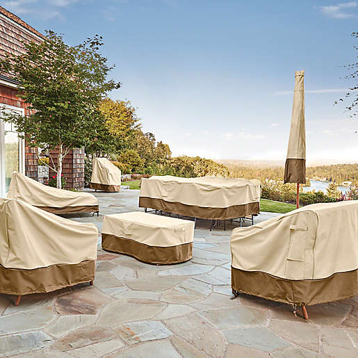 Veranda Round Outdoor Table Cover With, Round Patio Furniture Covers With Umbrella Hole
