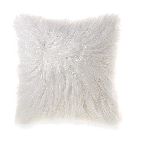 Flokati Faux Fur 18-Inch Square Throw Pillow