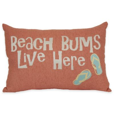 Throw Pillow With The Word Home On It : Beach Bums Tapestry Word Throw Pillow - Bed Bath & Beyond