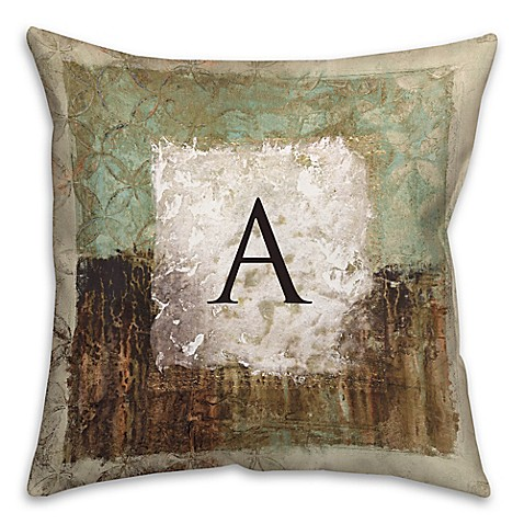 earth toned square throw pillow in green brown bed bath beyond. Black Bedroom Furniture Sets. Home Design Ideas