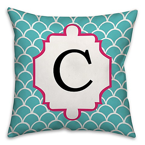 Square Throw Pillow Pattern : Scale Pattern 16-Square Throw Pillow in Cyan/Pink - from Designs Direct from Buy Buy Baby