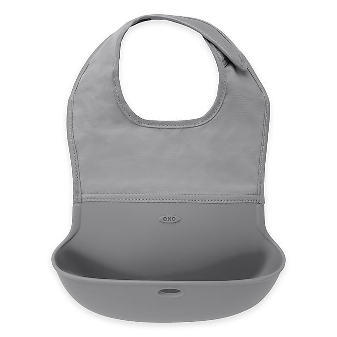 Alternate image 1 for OXO Tot® Roll Up Bib in Grey