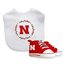image of NCAA University of Nebraska Infant Bib and Pre-Walker Shoe Set