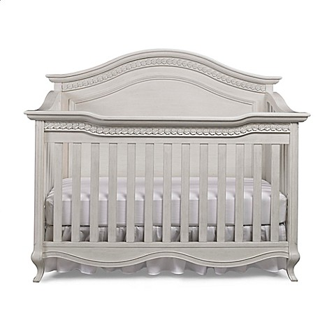 Bel Amore Lyla Rose 4 In 1 Convertible Crib In White Willow