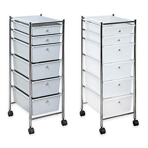 6 Drawer Plastic Rolling Storage Cart Bed Bath Amp Beyond