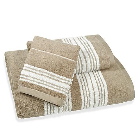 Buy Coastal Stripe Bath Towel In Beige From Bed Bath Beyond