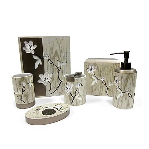 croscill® magnolia floral bath ensemble - bed bath & beyond