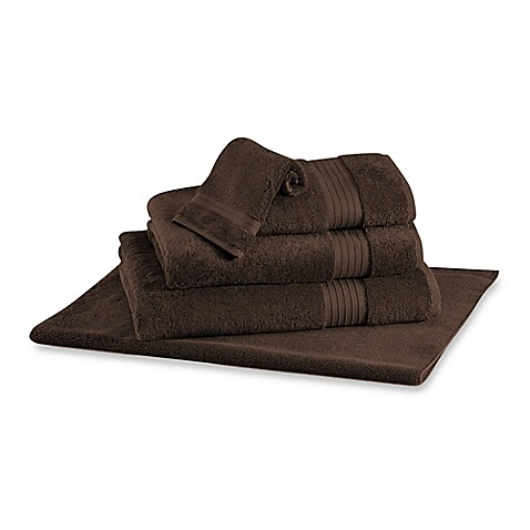 Buy frette at home milano bath sheet in chocolate from bed for Frette milano