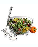 Set de utensilios y tazón para ensalada Prodyne de 3 piezas
