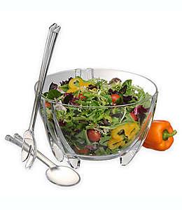 Utensilios y tazón de acrílico Prodyne para ensalada, Set de 3 piezas