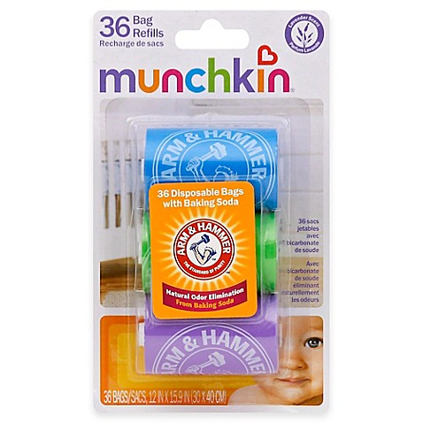 Munchkin Arm and Hammer 3-Pack 36-Count Diaper Bag Refills