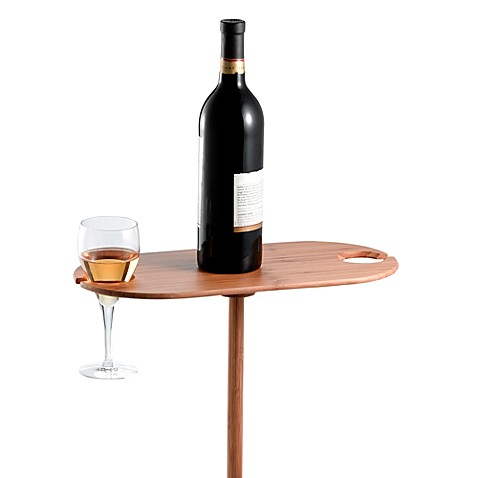 Portable Outdoor Bamboo Wine Table Bed Bath Amp Beyond