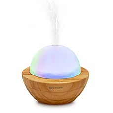 image of SpaRoom® Bamboo Ultrasonic AromaGlobe Aromatherapy Diffuser