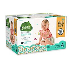 image of Seventh Generation™ 81-Count Size 4 Free & Clear Diapers