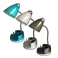 image of equip your space functional tablet organizer desk lamp with cfl bulb