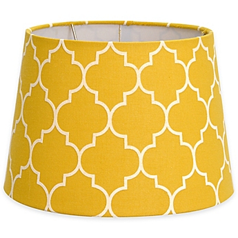 Image Of Flocked Linen Lamp Shade Collection