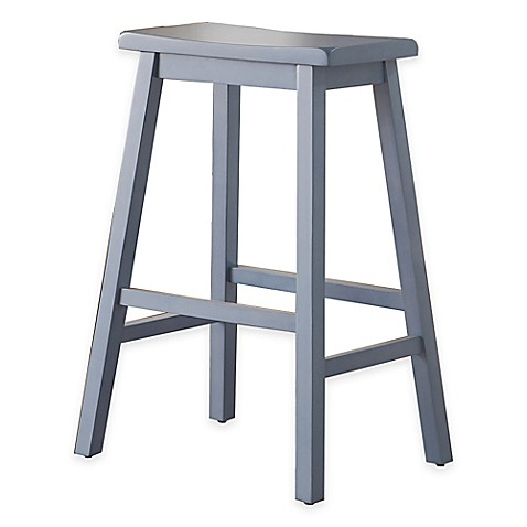 Wood Saddle Stools In Blue Bed Bath Amp Beyond