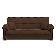 Image Of Handy Living Maurice Pillow Top Arm Convert A Couch®