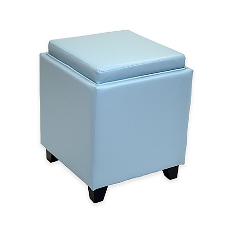 buy dubai contemporary storage ottoman with tray in sky