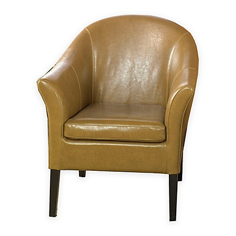 Venice Camel Leather Club Chair Bed Bath & Beyond