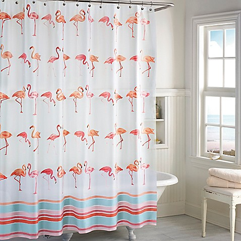 Flamingo peva shower curtain bed bath beyond - Bathroom items that start with l ...