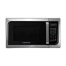 Farberware Clic 0 9 Cubic Foot Microwave Oven In Stainless Steel Black