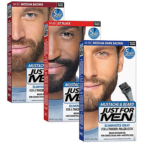 Just For Men® Mustache and Beard Brush-In Color Gel