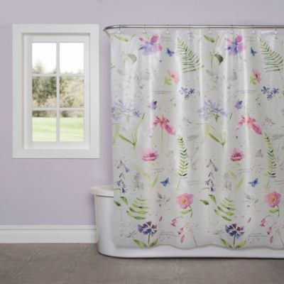image of Soft Nature PEVA Shower Curtain