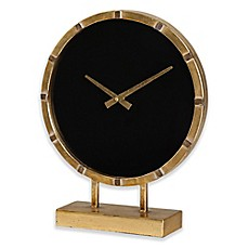image of Uttermost Aldo Table Clock in Gold