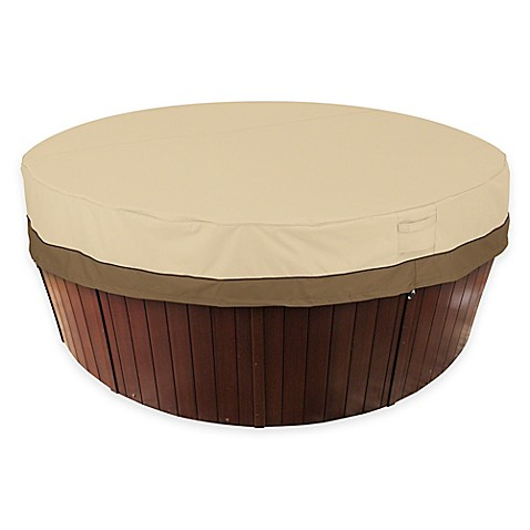 buy classic accessories veranda round hot tub cover from bed bath beyond. Black Bedroom Furniture Sets. Home Design Ideas